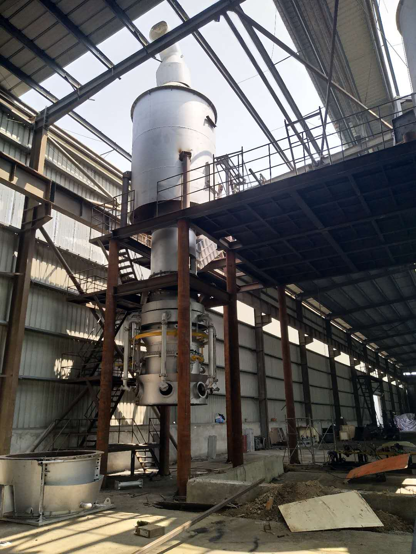 熔铝炉施工现场